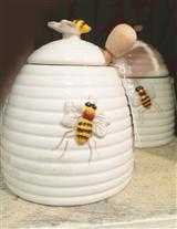 BEE SKEP HONEY POT