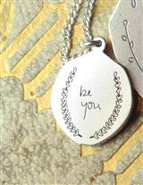 Poetic Pendant Necklace In Bell Jar (Be You)