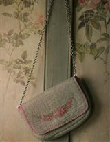 FELTED WOOL CROSSBODY PURSE (GRAY)