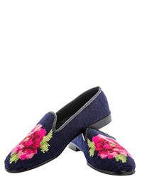 NIGHTBLOOMING PEONY NEEDLEPOINT FLATS