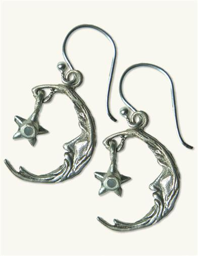 Crescent & Star Earrings