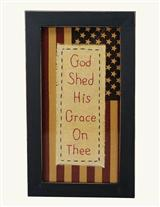 GOD SHED HIS GRACE STITCHERY