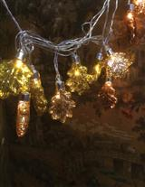 Oak & Grape Leaf Light Garland