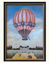 PINK HOT AIR BALLOON OVER VERSAILLES