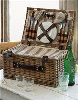 HAMPSTEAD PICNIC HAMPER FOR FOUR