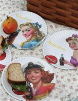 COCA COLA PIN-UP GIRL PLATES (SET OF 4)