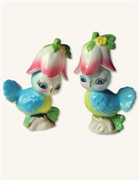 PIP & SQUEAK SALT & PEPPER SHAKERS