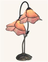Pink Twin Lily Accent Lamp