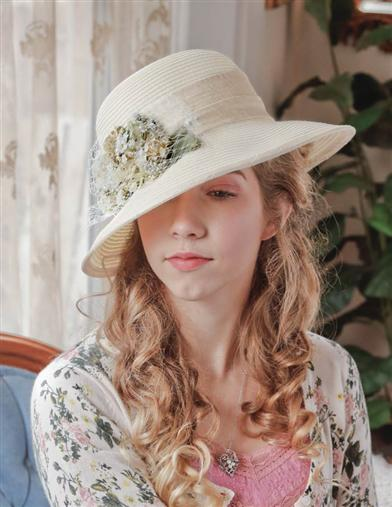 Edwardian Style Hats, Titanic Hats, Derby Hats Sweetheart Roses Hat $69.95 AT vintagedancer.com