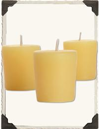 PURE BEESWAX VOTIVES (SET OF 4)