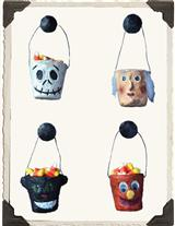 HALLOWEEN BUCKETS (SET OF 4)