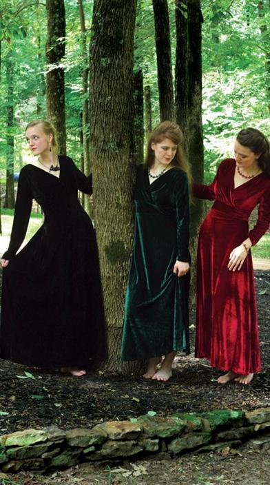 1900 Edwardian Dresses, Tea Party Dresses, White Lace Dresses Jewel-Toned Velvet Dress $49.95 AT vintagedancer.com