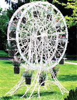FERRIS WHEEL FLOWER STAND LARGE