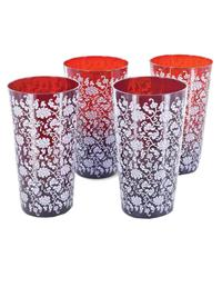 RUBY & LACE DRINKING GLASSES (SET OF 4)
