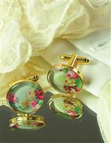 FLORAL CUFF LINKS