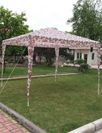 FLORAL TAILGATE TENT
