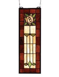 ART DECO ROSE WINDOW HANGING
