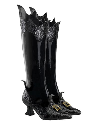 Vintage Retro Halloween Themed Clothing Vampy Vixen Boots $79.95 AT vintagedancer.com