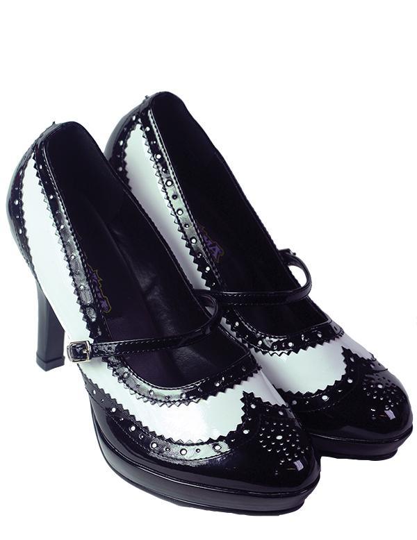 spectator shoes black and white retro pumps