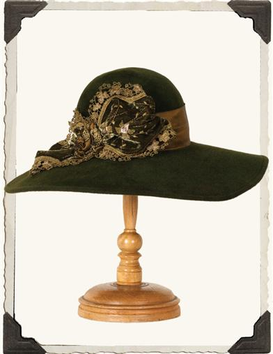 Louise Green Olive Wide Brim