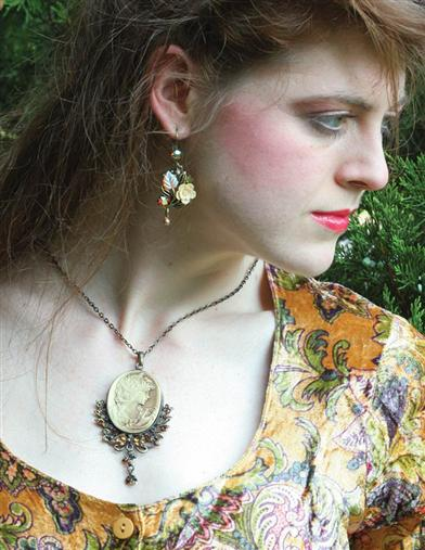 Victorian Costume Jewelry to Wear with Your Dress Bronze Beauty Cameo Necklace $9.99 AT vintagedancer.com