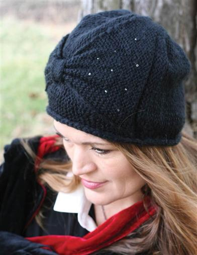 1920s Style Hats Stardust Bow Beanie $20.99 AT vintagedancer.com