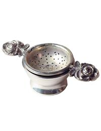 Twin Roses Tea Strainer