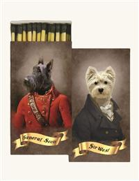 Aristocratic Dogs Matches (Set Of 3)