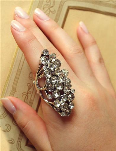 Victorian Costume Jewelry to Wear with Your Dress Marquis Ring $12.99 AT vintagedancer.com