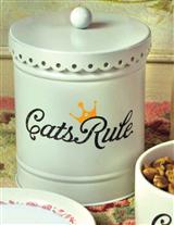CATS RULE TREAT CONTAINER