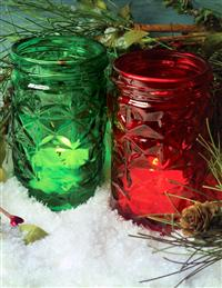 CHRISTMAS LUMINARY JARS (PAIR)