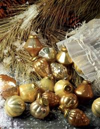 BAG O' BAUBLES MERCURY GLASS ORNAMENTS (SET OF 36)