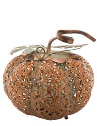 Filigree Pumpkin Led Lantern