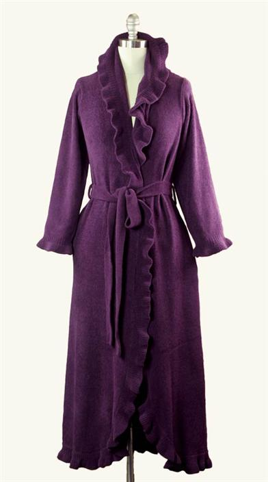 Victorian Hoop Skirt, Petticoat, Underwear Aubergine Ruffled Robe $89.95 AT vintagedancer.com