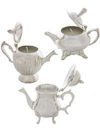 Les Petites Teapot Candles (Set Of 3)