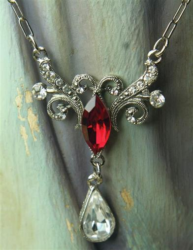 Victorian Costume Jewelry to Wear with Your Dress Grand Duchess Scarlet Necklace $29.99 AT vintagedancer.com