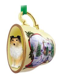 Dog Breed Tea Cup Ornament Large