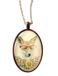Farsighted Fox Pendant Necklace