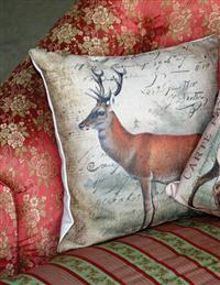 Deer Pillow (Synthetic Down)
