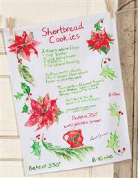 APRIL CORNELL SHORTBREAD RECIPE TOWEL