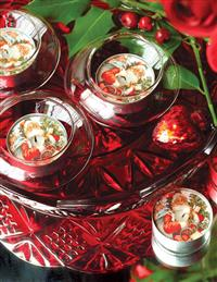 JOLLY SANTA TEA LIGHTS (SET OF 6)