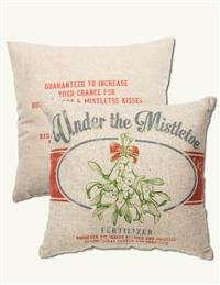 UNDER THE MISTLETOE PILLOW