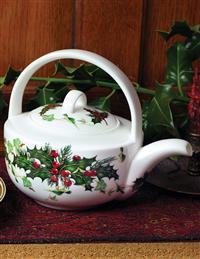 Holly English Bone China Teapot