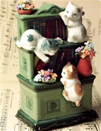 Literary Cats Music Box