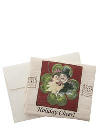 POSTCARD TOWEL HOLIDAY CHEER COUPLE
