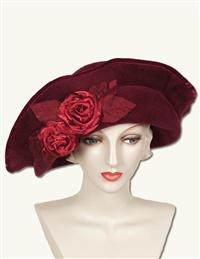 LOUISE GREEN REVERIE IN ROUGE HAT