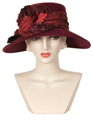 Women's Vintage Hats | Old Fashioned Hats | Retro Hats Louise Green Moulin Ruche Hat $239.95 AT vintagedancer.com