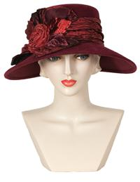 LOUISE GREEN MOULIN RUCHE HAT
