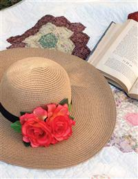 BEGUILING BONNET WITH ROSES IN HATBOX