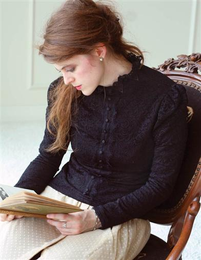 Victorian Style Blouses, Tops, Jackets Fleece Lined Winter Blouse $39.99 AT vintagedancer.com